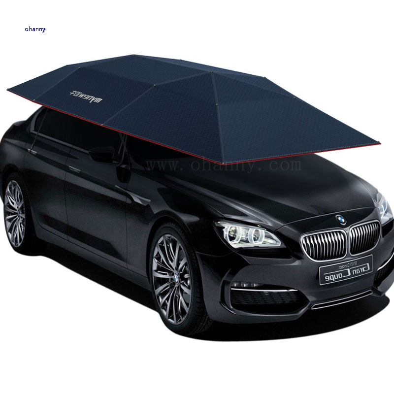 car clothes Move Hood Automobile Sunscreen Move Shed Automatic Fold Hood blue Semi-automatic Fund car cover umbrella accesories