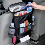 Car Seat Organizer Bag for Car Insulated Cellphone food Storage organizer in the car backseat Hanging Bag car Basket